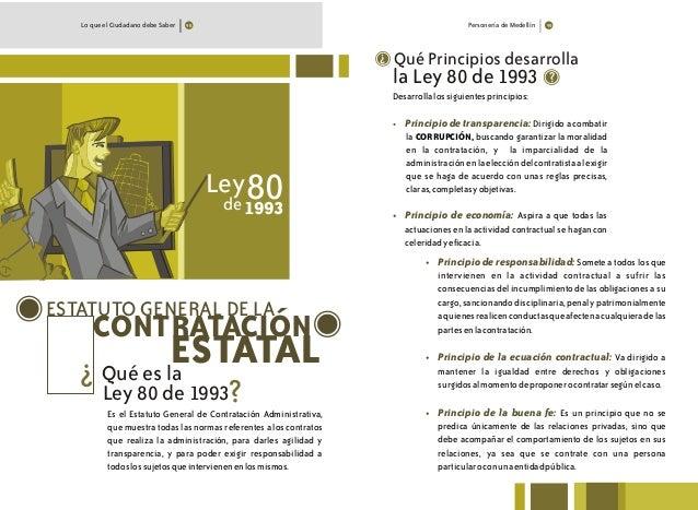 Personería de MedellínLo que el Ciudadano debe Saber ESTATUTO GENERAL DE LA CONTRATACIÓN Es el Estatuto General de Contrat...