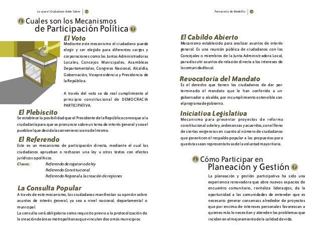 Lo que el Ciudadano debe Saber Personería de Medellín Cuales son los Mecanismos ? Mediante este mecanismo el ciudadano pue...