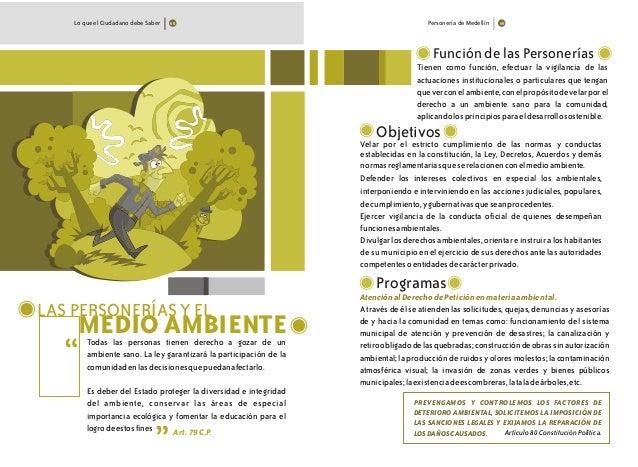 Personería de MedellínLo que el Ciudadano debe Saber LAS PERSONERÍAS Y EL MEDIO AMBIENTETodas las personas tienen derecho ...
