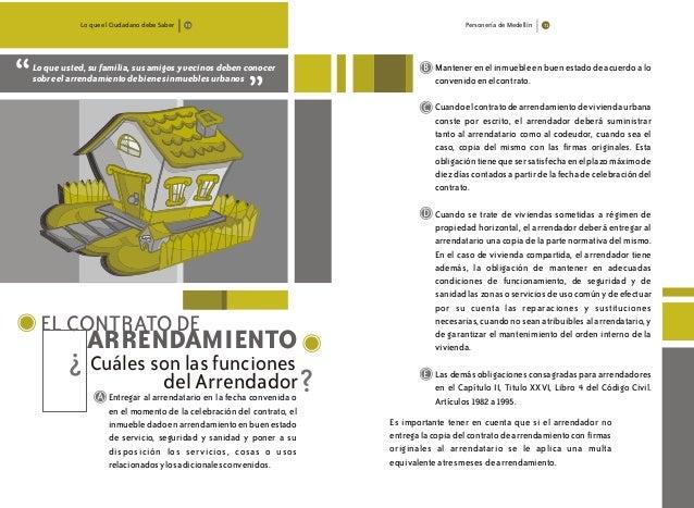 Lo que el Ciudadano debe Saber Personería de Medellín Loqueusted,sufamilia,susamigosyvecinosdebenconocer sobreelarrendamie...