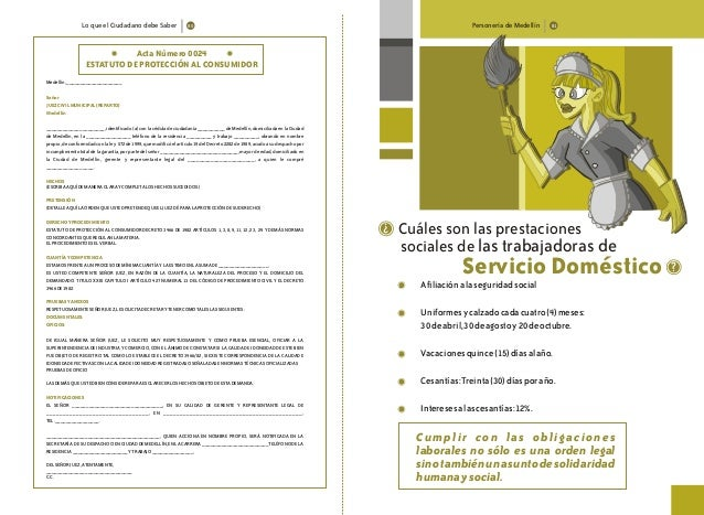 Lo que el Ciudadano debe Saber Personería de Medellín Acta Número 0024 ESTATUTO DE PROTECCIÓN AL CONSUMIDOR Medellín,_____...