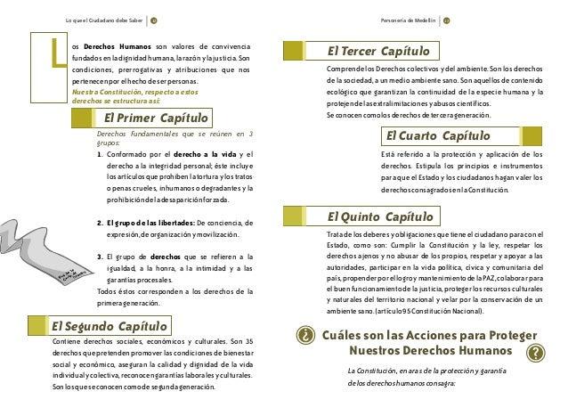 Lo que el Ciudadano debe Saber 12 Personería de Medellín 13 os Derechos Humanos son valores de convivencia fundadosenladig...