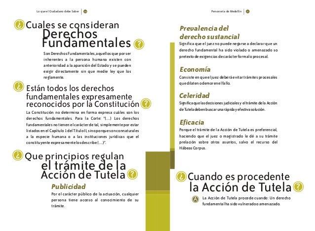 Lo que el Ciudadano debe Saber Personería de Medellín Cuales se consideran Derechos ? ? SonDerechosFundamentales,aquellosq...