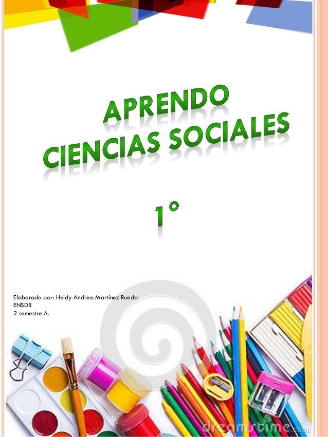 Cartilla De Sociales 1 Primaria