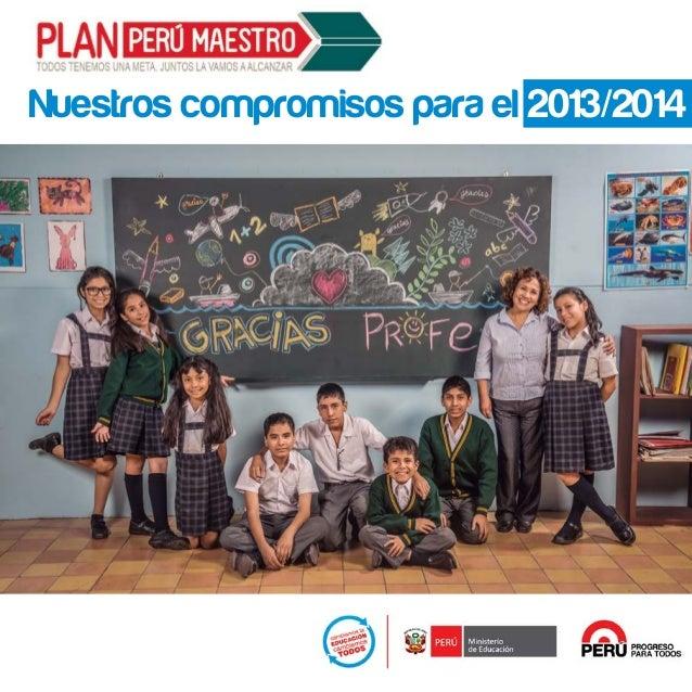Nuestros compromisos para el 2013/2014