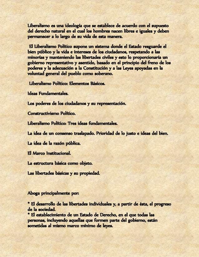 Sus características principales son:  * El individualismo, que considera a la persona individual como  primordial, por enc...