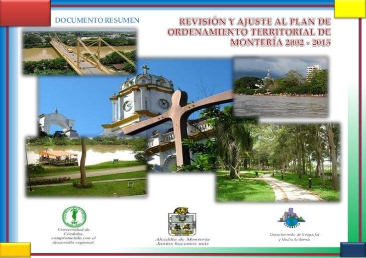 DOCUMENTO RESUMEN                    Departamento de Geografía                        y Medio Ambiente