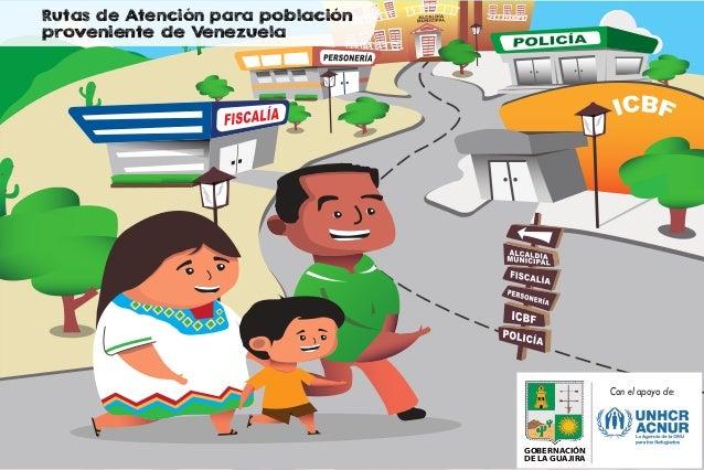 GOBERNACIÓN DE LA GUAJIRA Con el apoyo de: Rutas de Atención para población proveniente de Venezuela