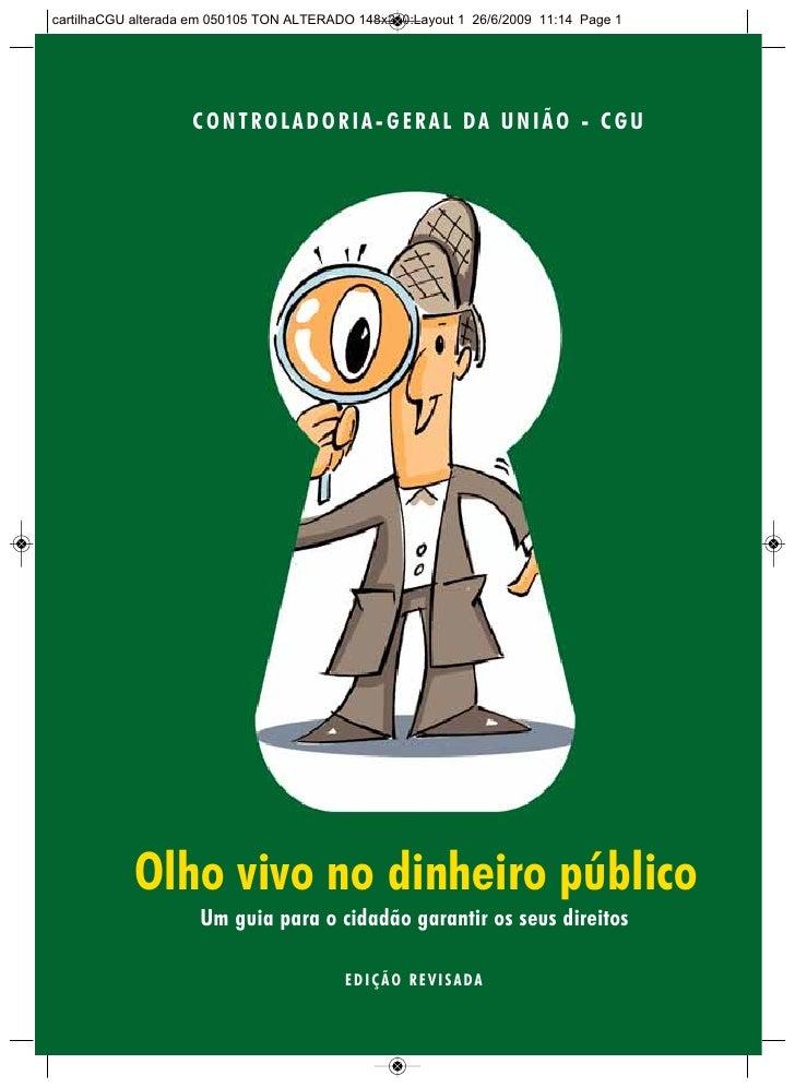 cartilhaCGU alterada em 050105 TON ALTERADO 148x210:Layout 1 26/6/2009 11:14 Page 1                    CONTROLADORIA- GERA...