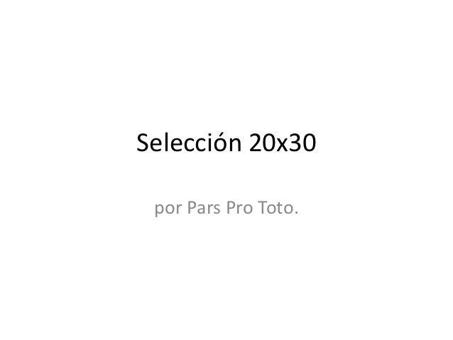 Selección 20x30 por Pars Pro Toto.