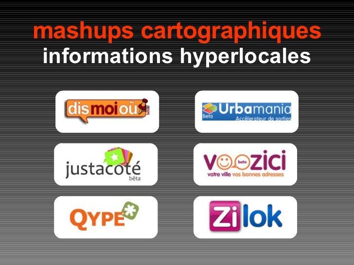 mashups cartographiques informations hyperlocales