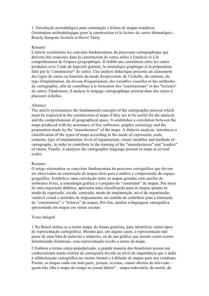 1. Orientação metodológica para construção e leitura de mapas temáticosOrientation méthodologique pour la construction et ...