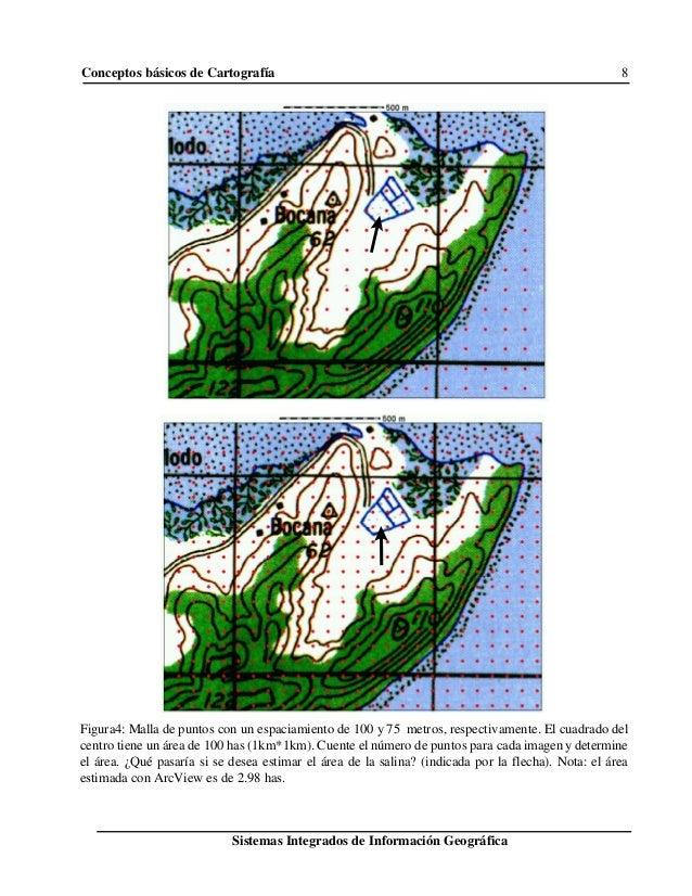 Conceptos básicos de Cartografía 8 Sistemas Integrados de Información Geográfica Figura4: Malla de puntos con un espaciami...