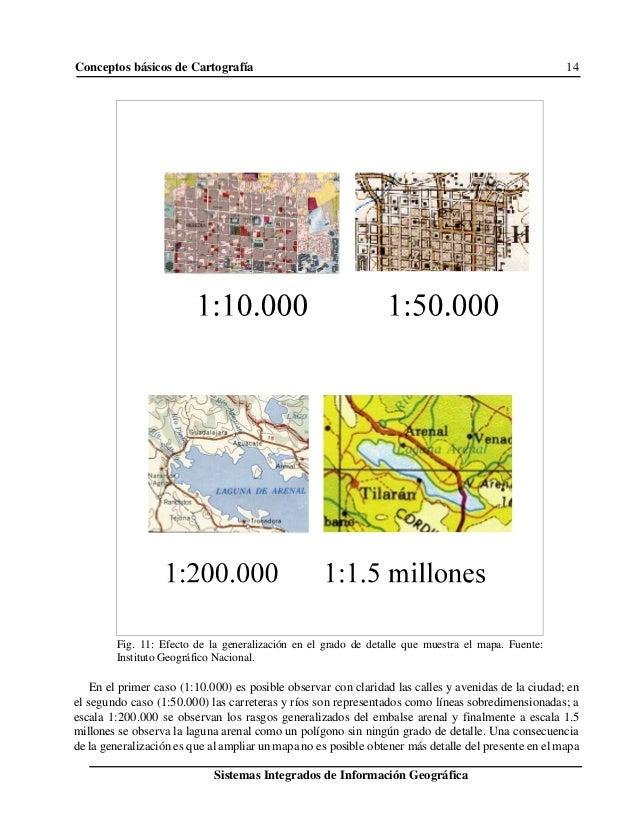Conceptos básicos de Cartografía 14 Sistemas Integrados de Información Geográfica Fig. 11: Efecto de la generalización en ...