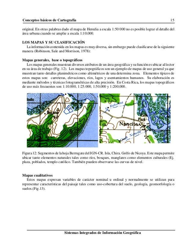 Conceptos básicos de Cartografía 15 Sistemas Integrados de Información Geográfica original. En otras palabras dado el mapa...