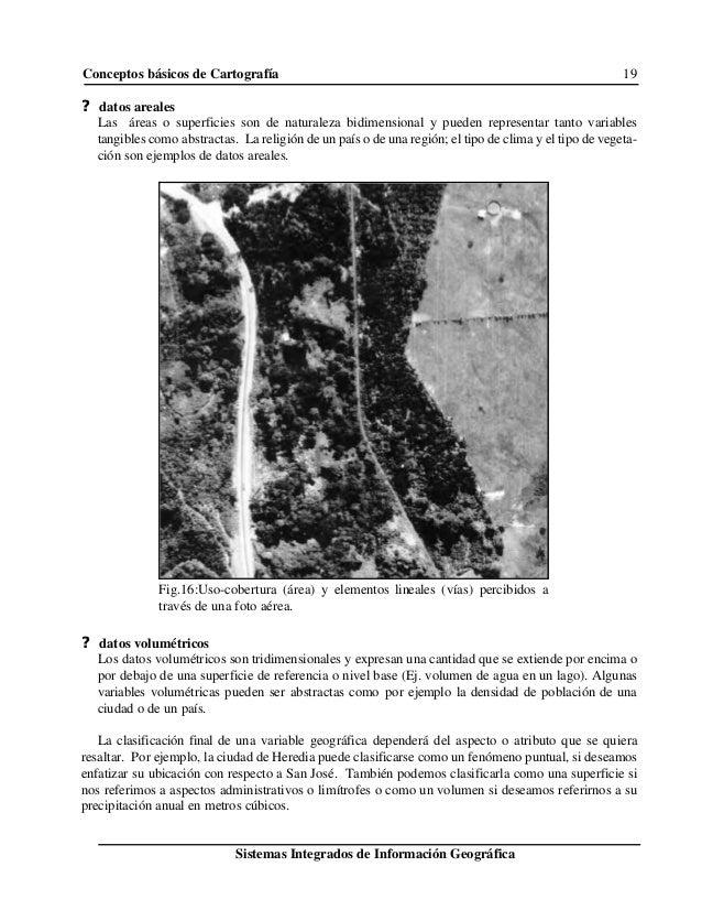 Conceptos básicos de Cartografía 19 Sistemas Integrados de Información Geográfica Fig.16:Uso-cobertura (área) y elementos ...