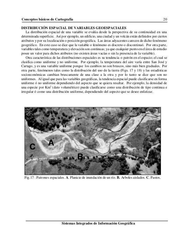 Conceptos básicos de Cartografía 20 Sistemas Integrados de Información Geográfica Fig.17 : Patrones espaciales. A. Planici...