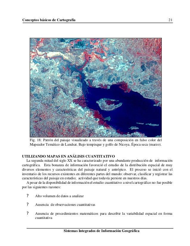 Conceptos básicos de Cartografía 21 Sistemas Integrados de Información Geográfica Fig. 18: Patrón del paisaje visualizado ...