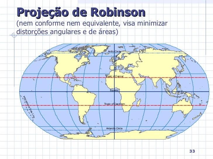 Resultado de imagem para projeção de robinson