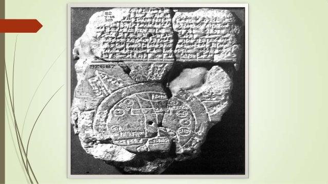"""""""Mapa del mundo"""" que se expone en el Museo Británico de Londres. Es el mapa más antiguo que se ha podido conservar. La tab..."""