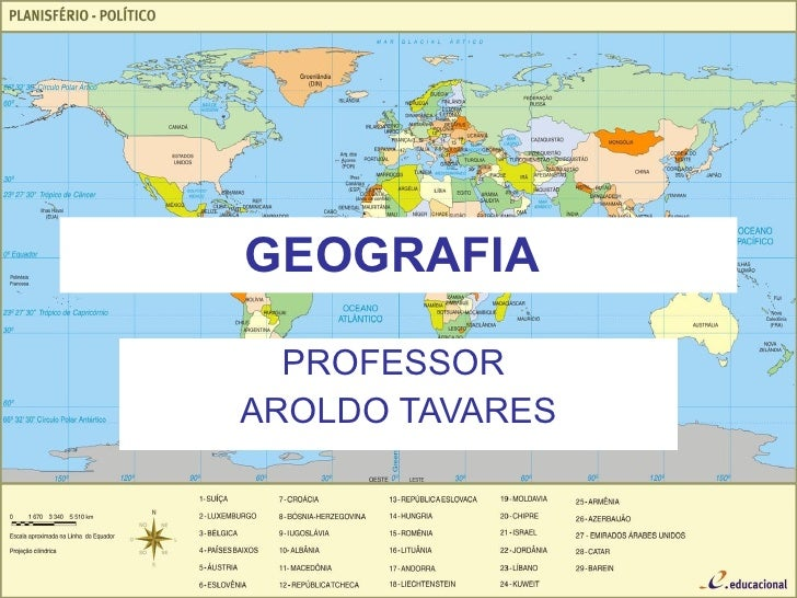 GEOGRAFIA  PROFESSOR  AROLDO TAVARES