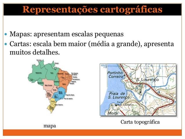 Representações Cartográficas Plantas: escala muito grande (tamanho muito próximo do real).             Planta (arquitetôn...