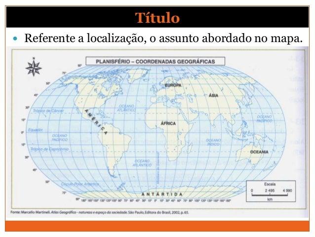Título Referente a localização, o assunto abordado no mapa.