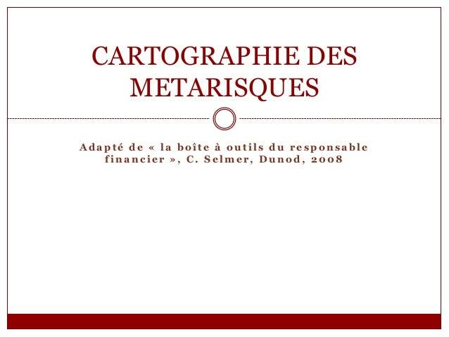 CARTOGRAPHIE DES METARISQUES Adapté de « la boîte à outils du responsable financier », C. Selmer, Dunod, 2008