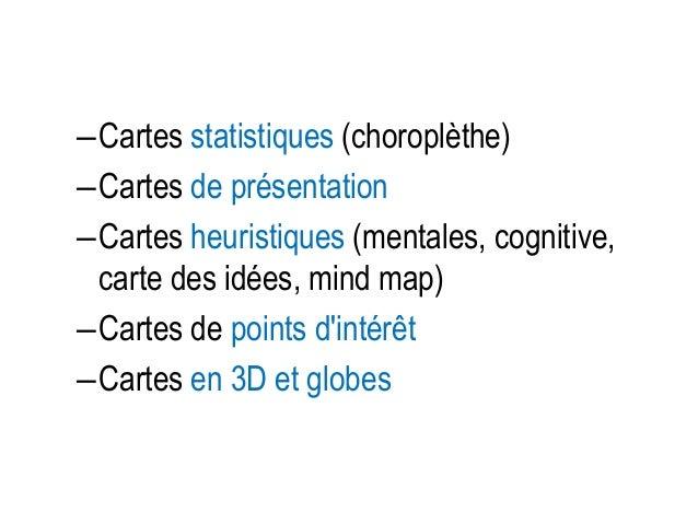 [Cf. cours dernier sur] • Le langage cartographique – Mode d'implantation des variables visuelles – Types de variables vis...