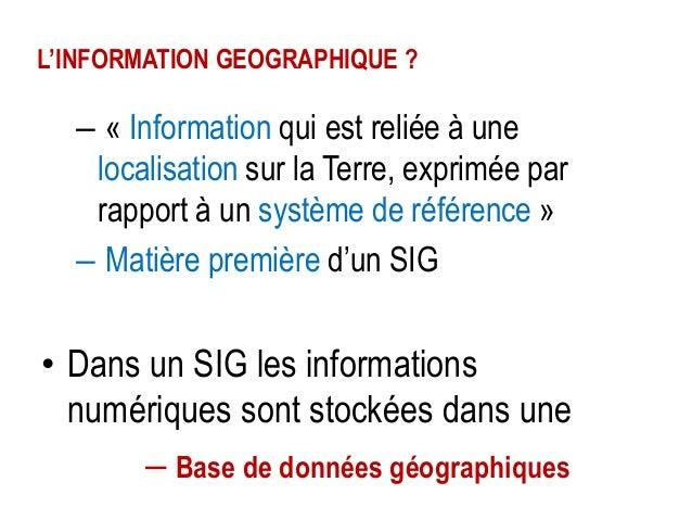 Dimension graphique de l'Information géographique  Il existe deux modèles de données graphiques (soit 2 manières de représ...