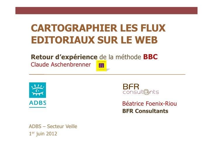 CARTOGRAPHIER LES FLUXEDITORIAUX SUR LE WEBRetour d'expérience de la méthode BBCClaude Aschenbrenner                      ...