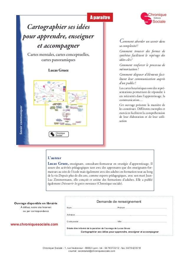 www.chroniquesociale.com Chronique Sociale - 1, rue Vaubecour - 69002 Lyon - tel.: 0478372212 - fax: 0478420318 ...