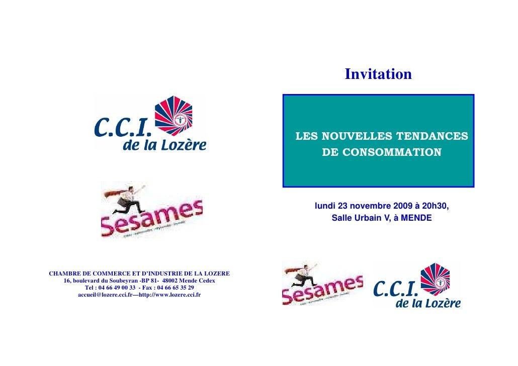 Invitation                                                             LES NOUVELLES TENDANCES                            ...