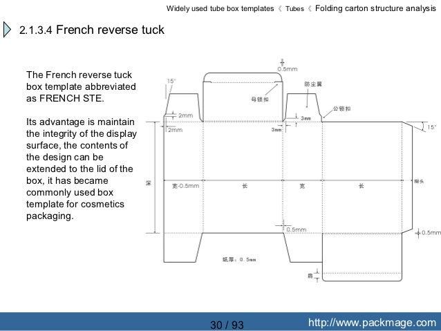 folding box outline. 30 folding box outline e