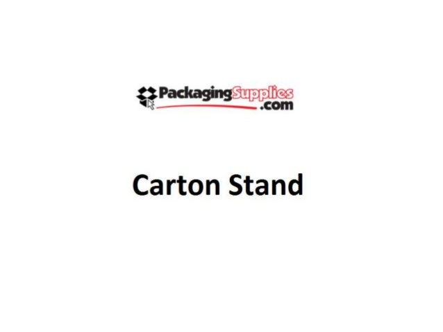 Carton stand for Stand carton