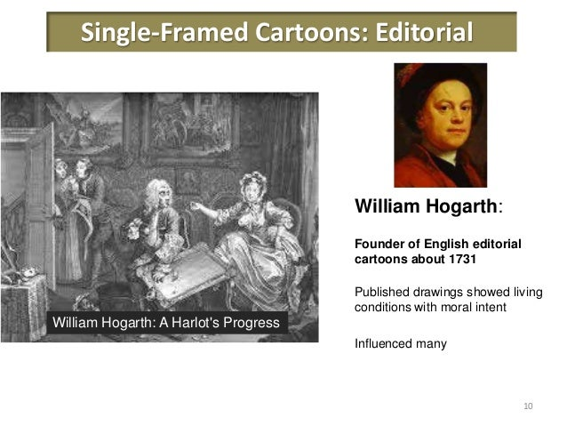 a brief history of comics Overview of cartoons: single framed (caricatures, editorial and humourous comic strips, comic books and animation.