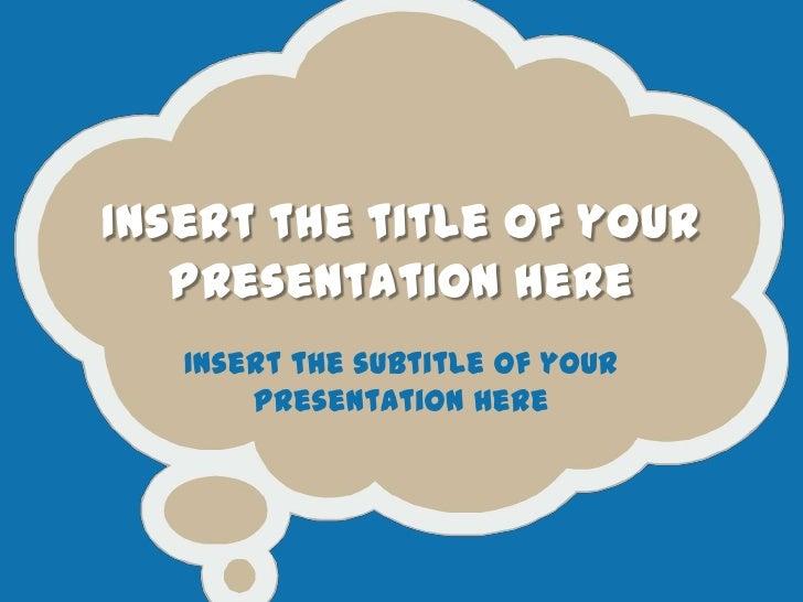 Powerpoint template cartoon bubbles toneelgroepblik Choice Image