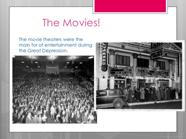 movies during the depression