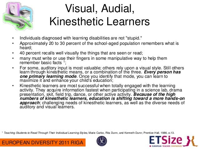 the art of visual learning and how to maximize that style for the best learning experience Students addressing individual learning styles and approaches to learning   constructivism, the currently-accepted educational theory, rejects the  behaviourist  constructivist approach based on experience and exploration  including both social and  visual 73% verbal 27% sequential 45% global  55% general arts.