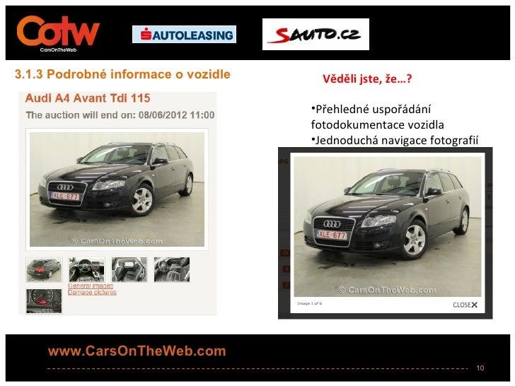 3.1.3 Podrobné informace o vozidle     Věděli jste, že…?                                     •Přehledné uspořádání        ...