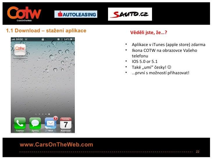 1.1 Download – stažení aplikace       Věděli jste, že…?                                  •   Aplikace v iTunes (apple stor...