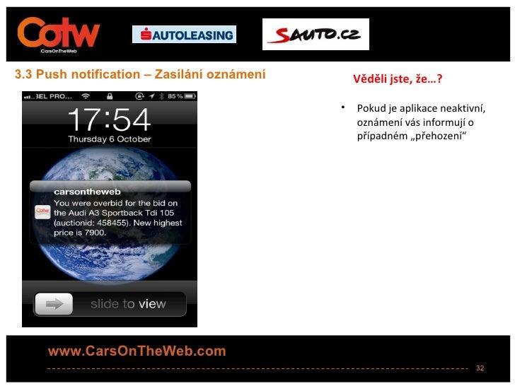 3.3 Push notification – Zasílání oznámení       Věděli jste, že…?                                            •   Pokud je ...