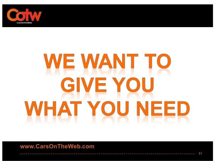 www.CarsOnTheWeb.com                       51