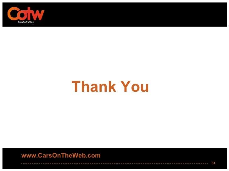 Thank Youwww.CarsOnTheWeb.com                        64