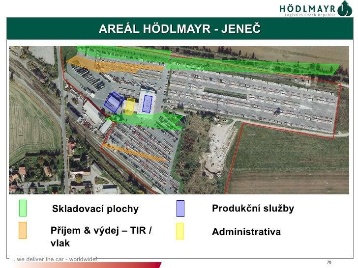 AREÁL HÖDLMAYR - JENEČ               Skladovací plochy                    Produkční služby               Příjem & výdej – ...