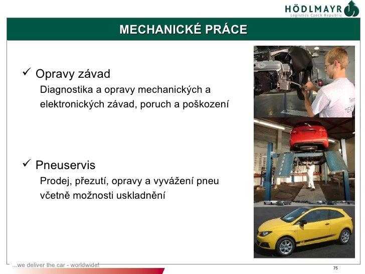 MECHANICKÉ PRÁCE    Opravy závad          Diagnostika a opravy mechanických a          elektronických závad, poruch a poš...