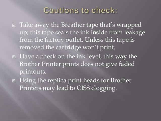 Cartridge problem on brother printer