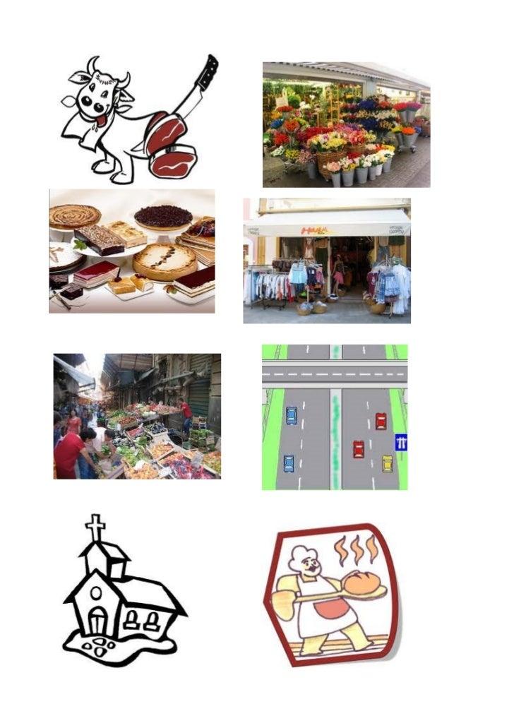 Cartulinas vocabulario ciudad 1 imagenes