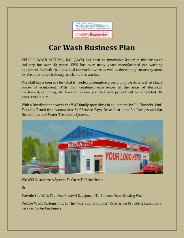 Car wash business plan – Car Wash Business Plan Template
