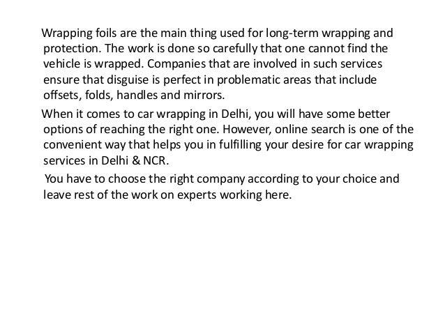 Car wrapping in delhi